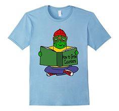Men's Smiletodaytees Pickle Reading How to Grow Cucumbers...…