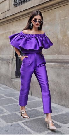 Back to the grind, currently working on my Paris Couture week recap. Purple Fashion, High Fashion, Womens Fashion, Fashion Fashion, Purple Outfits, Purple Dress, Mode Purple, Business Mode, Estilo Fashion