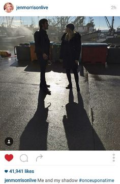 Jen's Instagram - Me and my shadow - #SaveHook #OperationSaveHook #CaptainSwan #OnceUponATime #once #ouat