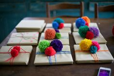 Pom-pom bombed prezzies - Foxs Lane