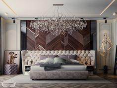 ᴄᴏɴᴛᴇᴍᴘᴏʀᴀʀʏ ᴍᴀsᴛᴇʀ-ʙᴇᴅʀᴏᴏᴍ on Behance Modern Luxury Bedroom, Luxury Bedroom Design, Modern Master Bedroom, Bedroom Bed Design, Luxurious Bedrooms, Bedroom Decor, Apartment Interior, Room Interior, Home Interior Design