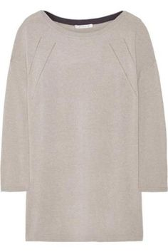 Pointelle-trimmed cashmere sweater #sweater #covetme #duffy