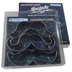 Mustache Cookie Cutters Movember Mustache Cookies Gift by FuzzyInk, $15.00