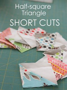 Half-square-triangle short-cuts and easy square-up - Diary of a Quilter - a quilt blog