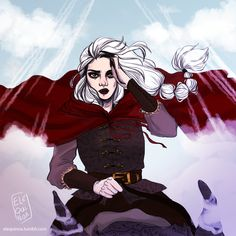 """Manon Blackbeak - Throne of Glass "" I just finished Queen of Shadows and all the feels. Had to draw my fave, Manon, the badass Ironteeth witch, whom I'm sure will fuck over anyone who tries to hurt her beloved witches again. And Elide. God I need..."