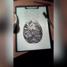 pineapple drawing