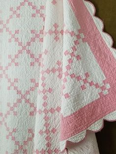Antique quilts for Sale, vintage fabrics, intricate french laces, and wonderful textiles from a day long ago. Pink Quilts, Baby Girl Quilts, Old Quilts, Strip Quilts, Girls Quilts, Antique Quilts, Scrappy Quilts, Vintage Quilts Patterns, Quilt Patterns
