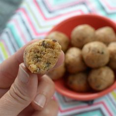 Peanut Butter Cookie Dough Bites {THM-S} | Eat Yourself Skinny