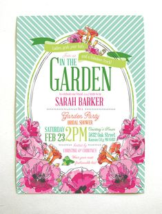 Derby Garden Party Bridal Shower Invitations by mountainpaper, $81.00
