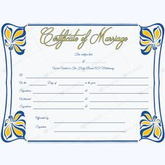 Marriage Certificate 05 - Word Layouts Create Certificate, Wedding Certificate, Marriage Certificate, Award Certificates, Certificate Templates, Marriage Records, Microsoft Word 2007, Commercial Printing, Graphic Design Templates