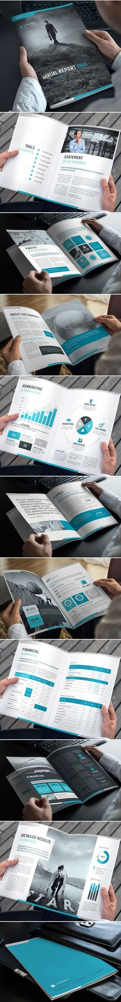 Annual Report 2015 Template on Behance