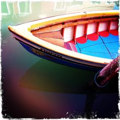 """""""I saw this colorful little boat docked on the island of Burano, just outside Venice, Italy. The colors captured the spirit of the fishing village."""" Submitted by Alexandra S."""