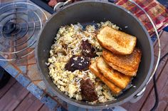 Best camping dutch oven breakfast ever? This is one of our staples when outdoors, even when we're RVing! ;)
