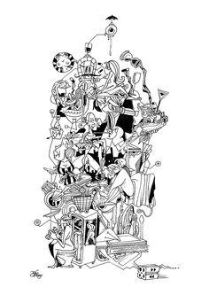 Illustration Chronique of Marcia Tiburi - Philosopher - www.vidabreve.com.br