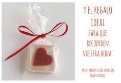 Jabón corazón. Ideas para bodas en San Valentín