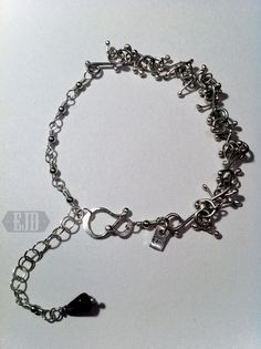 Your place to buy and sell all things handmade Metal Bracelets, Link Bracelets, Red Garnet, Dangles, Jewelry Design, Organic, Sterling Silver, Chain, Stone