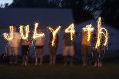 Sparklers....kind of like a mini bonfire :)