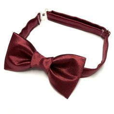 Custom Handmade Burgundy Khaki Bow tie Vintage style 70`s Bowtie Pretied
