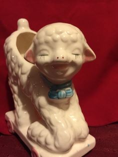 Collectible vintage lamb nursery vase Art Deco  - pinned by pin4etsy.com