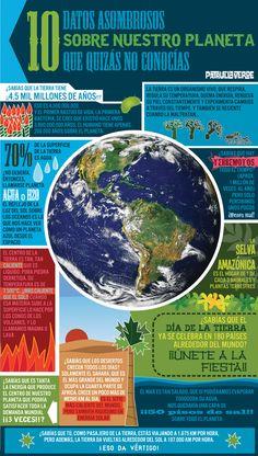 Hoy es el #DiaDeLaTierra: 10 datos asombrosos que quizas no sabias de la Tierra. #infografia (repinned by @ricardollera)