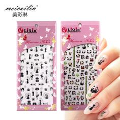 ใบสง Meicailin 1 Sheet Embossed 3D Water Nail Stickers Decals...