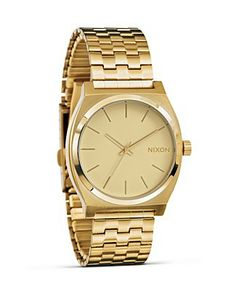 Nixon, the Time Teller gold watch