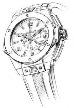 Hublot Big Bang Ferrari Titanium Ref: 401.NX.0123.GR401.NX.0123.GR - sketch - best mens watches, diamond watches for men, mens luxury watches *ad