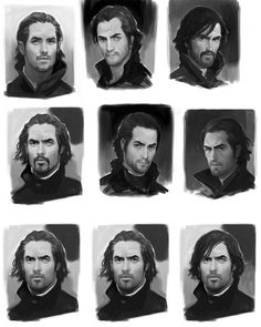Corvo Faces - Pictures & Characters Art - Dishonored