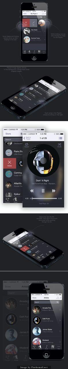 Music App Redesign Concept
