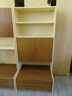 Retro Storage Cupboard & Shelves ------------H-179 W-83.5 D-59.5cm------ £25 (PC322)