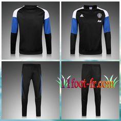 Survêtement Foot Manchester United 16-17 Noir/Bleu Homme