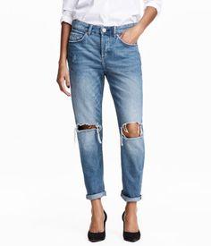 Boyfriend Low Jeans | Lys denimblå | Dame | H&M DK