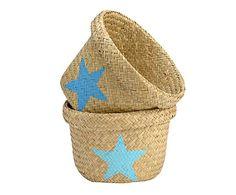 """99zł Komplet 2 koszyków """"Star Blue"""", Ø 20, wys. 15 cm"""