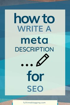 Learn how to write a meta description for SEO. Your meta description is the first impression you give potential visitors, so make sure it's a good one!