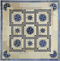 Maritime star quilt | beautiful stars and a unique set make Maritime a stellar quilt.