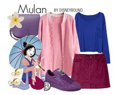 """Mulan"" by leslieakay ❤ liked on Polyvore featuring N'Damus, Disney, Mountain Khakis, Puma, Yoko London, women's clothing, women, female, woman and misses"
