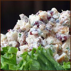 Cranberry Pecan Chicken Salad (looks similar to the one at McAlister's that I would love to eat daily)