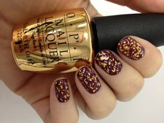 """Want! From OPI, """"We have a VERY special treat in store for all of you this Holiday! In celebration of James Bond's Golden Anniversary we are releasing our first-ever 18 karat gold leaf top coat """"The Man with the Golden Gun""""Inspired by the world of 007, this stunning top coat contains real 18 karat gold and comes packaged in a special limited edition collectable gold bottle – the ultimate holiday gift! Available this October."""""""