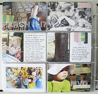 week in the life style scrap book page idea