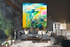 Items similar to Large Modern Wall Art Painting,Large Abstract wall art,painting colorful,xl abstract painting,canvas wall art on Etsy Textured Wall Art, Large Canvas Art, Bright Paintings, Abstract Wall Art Painting, Wall Art Painting, Modern Abstract Painting, Abstract Wall Art, Canvas Art Painting, Large Modern Wall Art