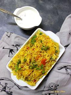 Vegetable Tahiri / Tehri Recipe - PRIYA KITCHENETTE