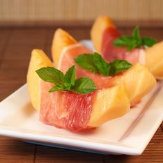 Melon and Prosciutto. Makes me think of my time in Italy!
