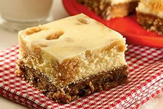 Cookie Crust Peanut Butter Cheesecake Squares