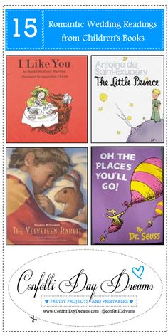 15 Romantic Wedding Readings from Children's Books! Super Cute Oh-So-Romantic Wedding Readings From Kiddies Books! wedding quotes 15 Romantic Wedding Readings from Children's Books Wedding Ceremony Readings, Wedding Vows, Dream Wedding, Spring Wedding, Wedding Speeches, Wedding Bells, Winnie The Pooh, Wedding Quotes, Wedding Ideas