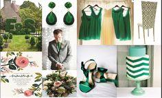 Kelly green wedding inspiration.