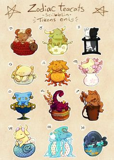 I loved designing these what's your zodiac sign? Mine's Capricorn ^^ This batch is exclusively for token holders. Only 1 per person please <3 Edit: There will be more tokens only teacats after t...