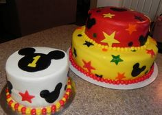 Mickey Mouse Clubhouse Inspired Cake and Smash Cake