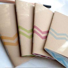 Little Notebooks Kraft Stitched Chevron