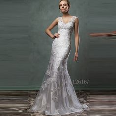 Aliexpress.com : Buy Champagne Wedding Dresses V neck Sleeveless Bridal Dresses Wedding dress 2016 New designer wedding Gowns Lace Bride Dress CGW159 from Reliable dress mink suppliers on Evening Dresses 1991 | Alibaba Group