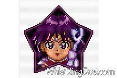 Super Sailor Saturn Cross Stitch Pattern